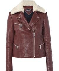 Tommy Hilfiger Biker-Jacke aus genarbtem Leder