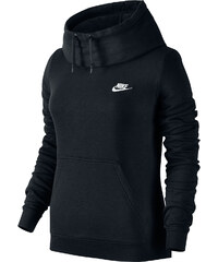 Nike Funnel-Neck W Hoodie black/white