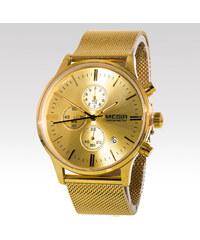 Megir pánské hodinky Strap zlaté