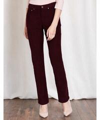 Trafalgar Jeans mit geradem Bein Burgunderrot Damen Boden