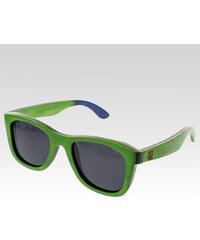 VeyRey dřevěné sluneční polarizační brýle Metasequoia zelené