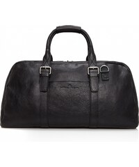 Castelijn & Beerens Elegantní kožená cestovní taška 639320 Bravo černá