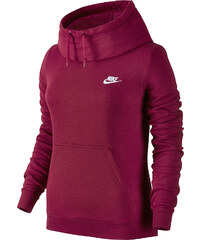Nike Funnel-Neck W Hoodie red/white