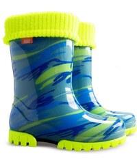 Demar Chlapecké holínky Twister LUX Fluo D - modré