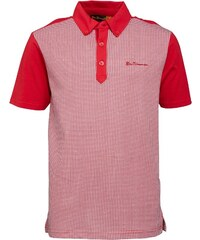 Ben Sherman Junior Dogtooth Print Polo Rosso Red