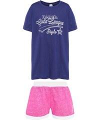 Bench Nachtwäsche Set navy/pink melange