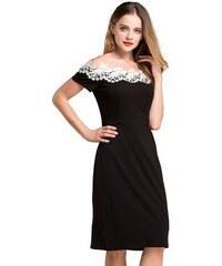 LM moda A Elegantní šaty s krajkou černé 803 ebd94bb17f