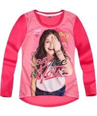 Disney Soy Luna Langarmshirt pink in Größe 128 für Mädchen aus 100% Baumwolle Vorderseite: 100% Polyester