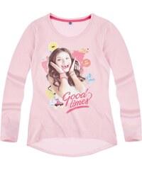 Disney Soy Luna Langarmshirt rosa in Größe 128 für Mädchen aus 100% Baumwolle