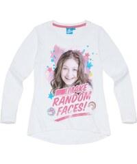 Disney Soy Luna Langarmshirt weiß in Größe 128 für Mädchen aus 100% Baumwolle