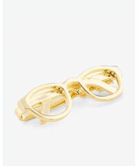Ted Baker Krawattennadel im Lesebrillen-Design Gold
