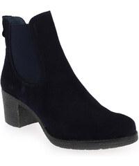 Boots Femme Costa Costa en Cuir velours Bleu