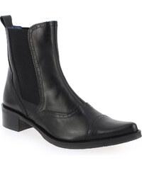 Boots Femme Costa Costa en Cuir Noir