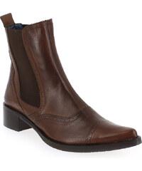 Boots Femme Costa Costa en Cuir Camel