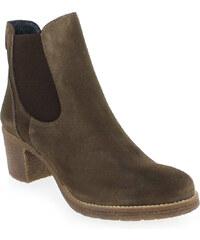 Boots Femme Costa Costa en Cuir velours Marron