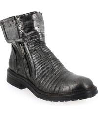 Boots Femme Fru.it en Cuir Argent