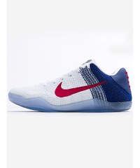 Nike Kobe XI Elite Low White University Red Deep Royal Blue