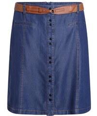 Jupe évasée boutonnée aspect jean Bleu Synthetique (polyurethane) - Femme Taille 38 - Bréal
