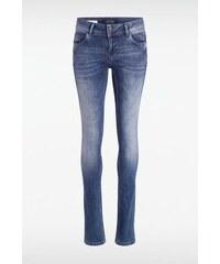 Jeans femme skinny SOFIA-PAVO push-up Bleu Cuir de vachette - Femme Taille 34 - Bonobo