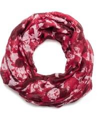 Eram Foulard snood imprimé floral rouge