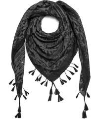 Eram Foulard carré imprimé aztèque gris