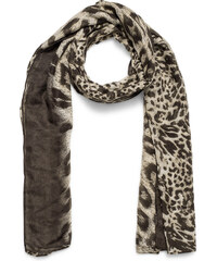 Eram Foulard imprimé léopard marron