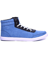 Lesara High-Top-Sneaker aus Stoff - Blau - 40