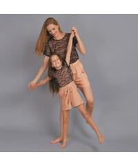 Lesara Kurzer Kinder-Jumpsuit mit Spitzen-Top - 98
