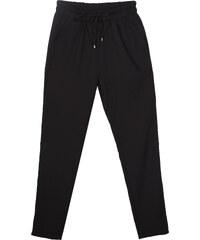 Lesara Mid Waist-Hose mit elastischem Bund - Schwarz - 36