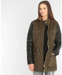 Pimkie Mantel in Khaki aus Materialmix