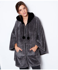 Poncho pyjama zippé toucher polaire Etam