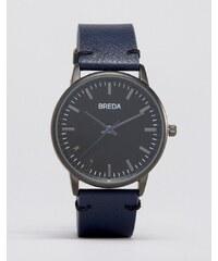Breda - Zapf - Montre en cuir à cadran noir - Bleu marine - Bleu marine
