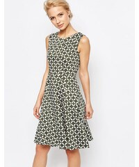 Closet London Closet - A-Linien-Kleid mit Retro-Blumenmuster - Grün