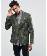 Devils Advocate - Blazer imprimé camouflage et floral style 70's - Vert