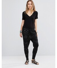 Free People - Roadtrip - Pantalon de jogging imprimé - Noir