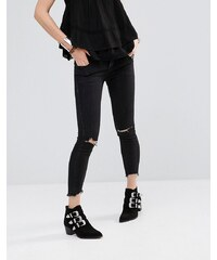 Free People - Jean skinny avec déchirures - Noir