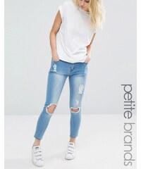 Liquor & Poker Petite Liquor & Poker - jean skinny pour petites tailles avec déchirures - Bleu