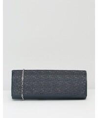 Lotus - Clutch mit Netzdetails - Marineblau