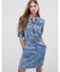 Pepe Jeans - Aeryn - Robe chemise en jean - Bleu