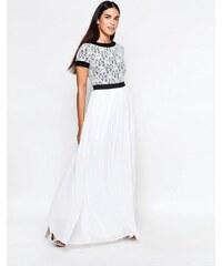 Rare - Robe longue avec top en dentelle - Blanc