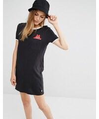 """""""Vans X Dabs - Myla - T-Shirt-Kleid mit """"spähender"""" Tasche"""" - Schwarz"""