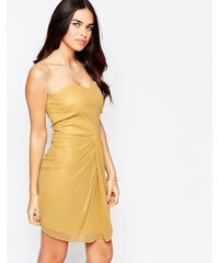 VLabel London VLabel - Honey - Trägerloses Minikleid - Gold
