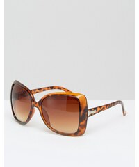 7X - Oversize-Sonnenbrille - Braun
