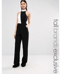 Taller Than Your Average TTYA - Jemanda - Combinaison contrastée sans manches à col montant - Noir - Blanc