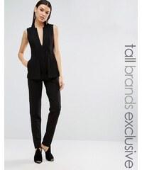 Taller Than Your Average TTYA - Kiren - Combinaison ajustée avec blazer superposé deux en un, sans manches - Noir - Noir