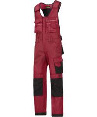 Kalhoty DuraTwill™ laclové řemeslnické - Červená - Snickers Workwear