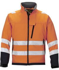 Bunda Soft Shell, vysoká viditelnost EN 471 tř.3 - Oranžová - Snickers Workwear