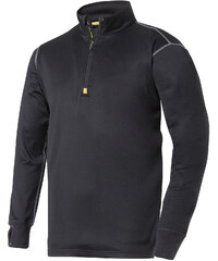 Termopulovr Mikro-fleece na 1/2 zip - Černá - Snickers Workwear