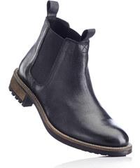 RAINBOW Bottines Chelsea en cuir noir chaussures & accessoires - bonprix