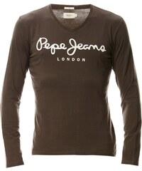 Pepe Jeans London Original stretch V long - T-shirt - marron